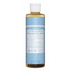 Dr. Bronner's 18-in-1 hajusteeton nestesaippua 240ml